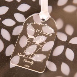Laser Engraved Deepest Sympathy Gift Tag