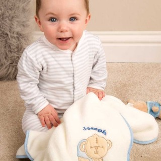 Personalised Baby Blanket: Baby Boy