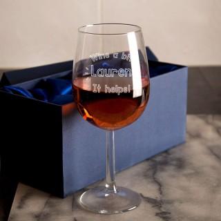 Wine A Bit Customised Wine Glass