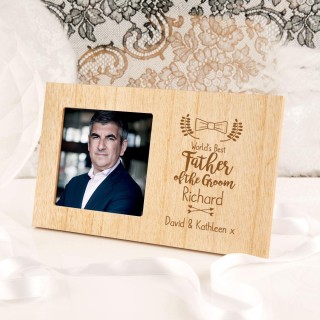 Customised Father of the Groom Photo Frame