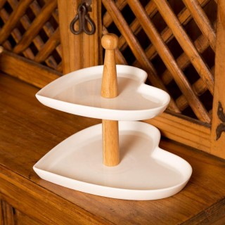 Two Tier Heart Shaped Cake Stand
