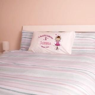 Personalised Ballerina Pillowcase