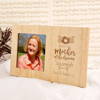 Personalised Mother of the Groom Wooden Photo Frame
