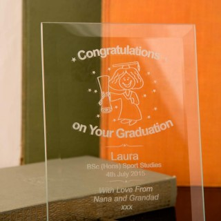 Graduation Glass Plaque :Female