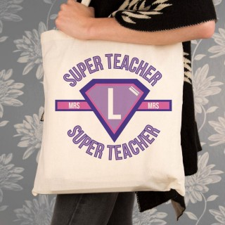 Personalised Female Super Teacher Tote