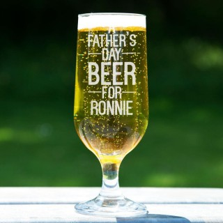 Personalised Fathers Day Beer Glass