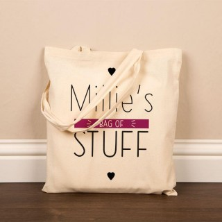Personalised Bag of Stuff Cotton Shopper
