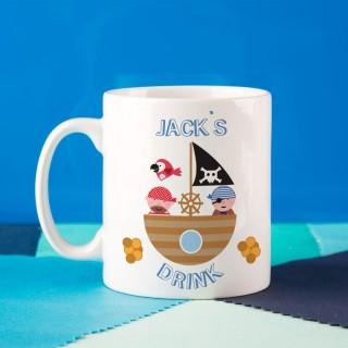 Personalised Childrens Pirate Mug
