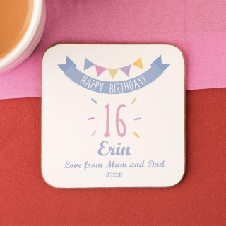 Girls 16th Birthday Drinks Coaster