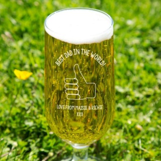 Best Dad in the World Personalised Beer Glass