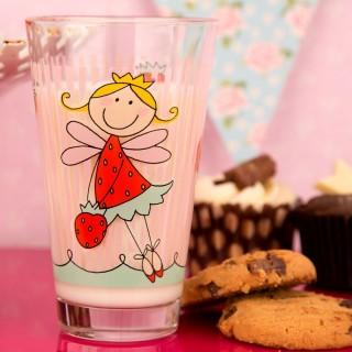 Strawberry Fairy Glass