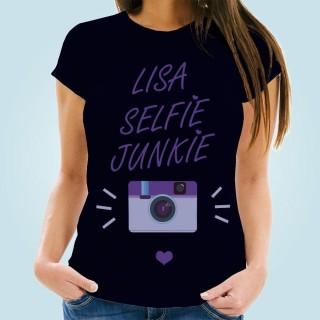 Customised Selfie Junkie Womens Tee