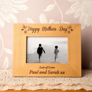 Personalised Mothers Day Oak Frame