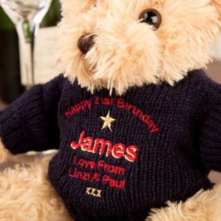 Personalised 21st Birthday Teddy Bear