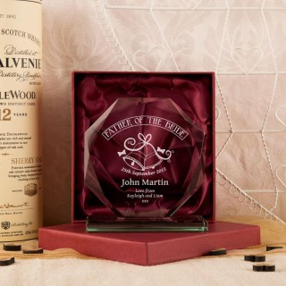 Personalised Father Of The Bride Cut Glass Presentation Gift