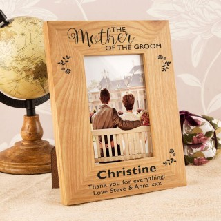 Personalised Mother of the Groom Oak Frame
