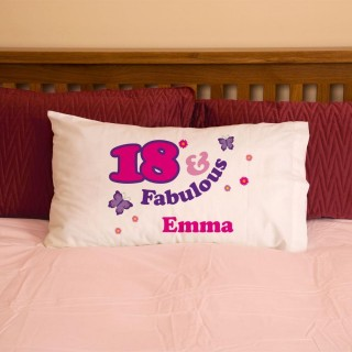 Girls 18 And Fabulous Pillowcase