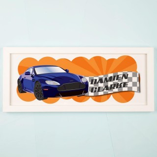 Vibrant Customised Car Framed Print