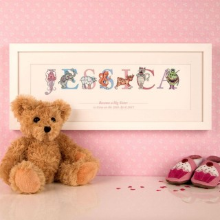 Personalised New Big Sister Name Frame