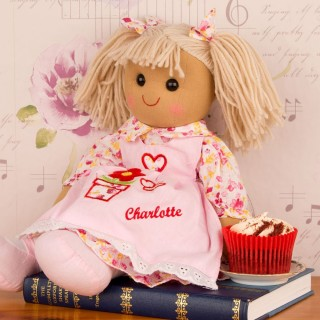 Personalised Girls Rag Doll