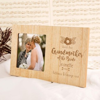 Grandmother of the Bride Personalised Photo Frame