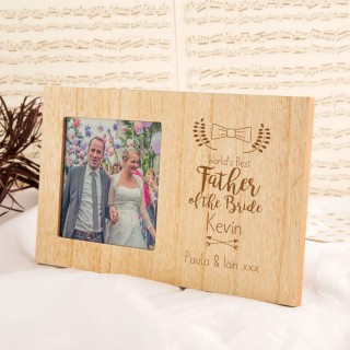 Personalised Worlds Best Father of the Bride Frame