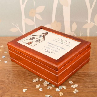 Bespoke Communion Musical Jewellery Box: Church