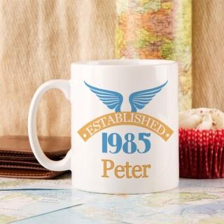 30th Birthday Established Since Mug For Him