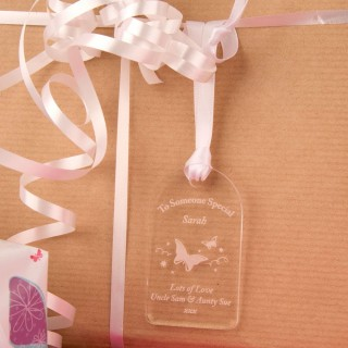 Acrylic Butterfly Gift Tag