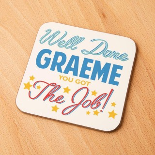 Congratulations New Job Customised Drinks Coaster