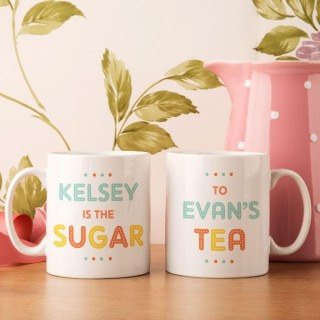 Personalised The Sugar to The Tea Couples Mug Set