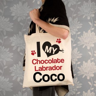 I Love My Dog Personalised Shopper Bag