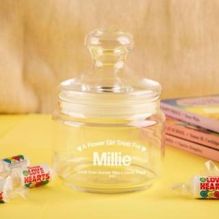 Personalised Flower Girl Sweet Jar