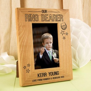 Personalised Ring Bearer Oak Frame: Sporran