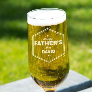 Customised Happy Fathers Day Beer Glass