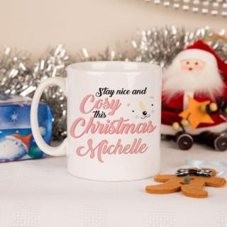 Cute Polar Bear Customised Christmas Mug