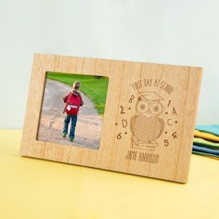 Personalised First Day of School Wooden Photo Frame