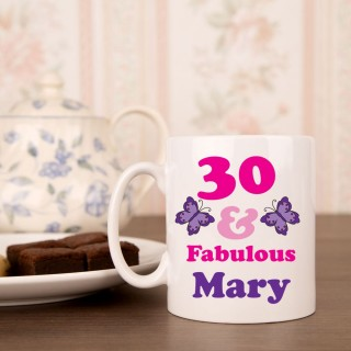 30 And Fab Birthday Mug For Her