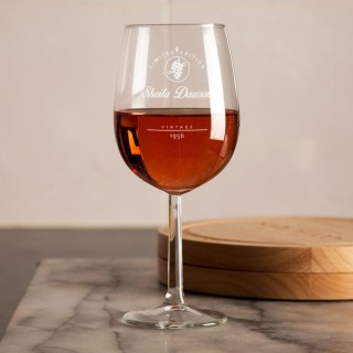 Personalised Limited Edition Label Wine Glass