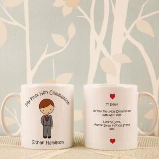 Personalised Communion Boy Mug