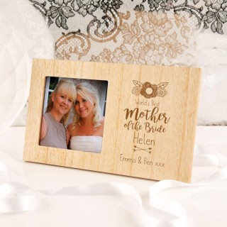 Personalised Worlds Best Mother of the Bride Photo Frame