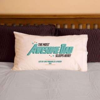 The Most Awesome Dad Personalised Pillowcase