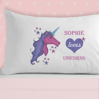 Girls Love Unicorns Pillowcase