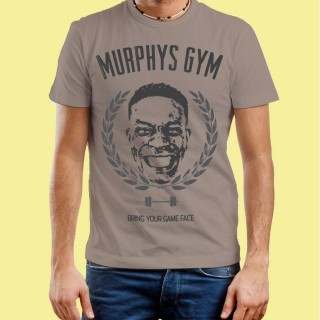 Gym Face On: Customised Mens Grey T-Shirt