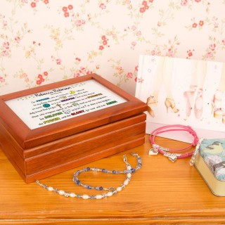 Girls Lords Prayer Keepsake Musical Jewellery Box