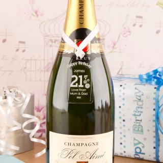 21st Birthday Acrylic Gift Tag