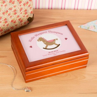 Customised Rocking Horse Musical Jewellery Box