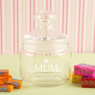 We Love Mum Personalised Sweet Jar