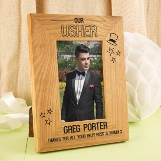 Customised Usher Oak Photo Frame