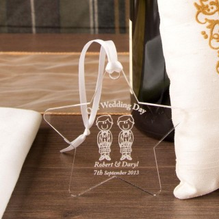 Personalised Groom & Groom Star: Scottish